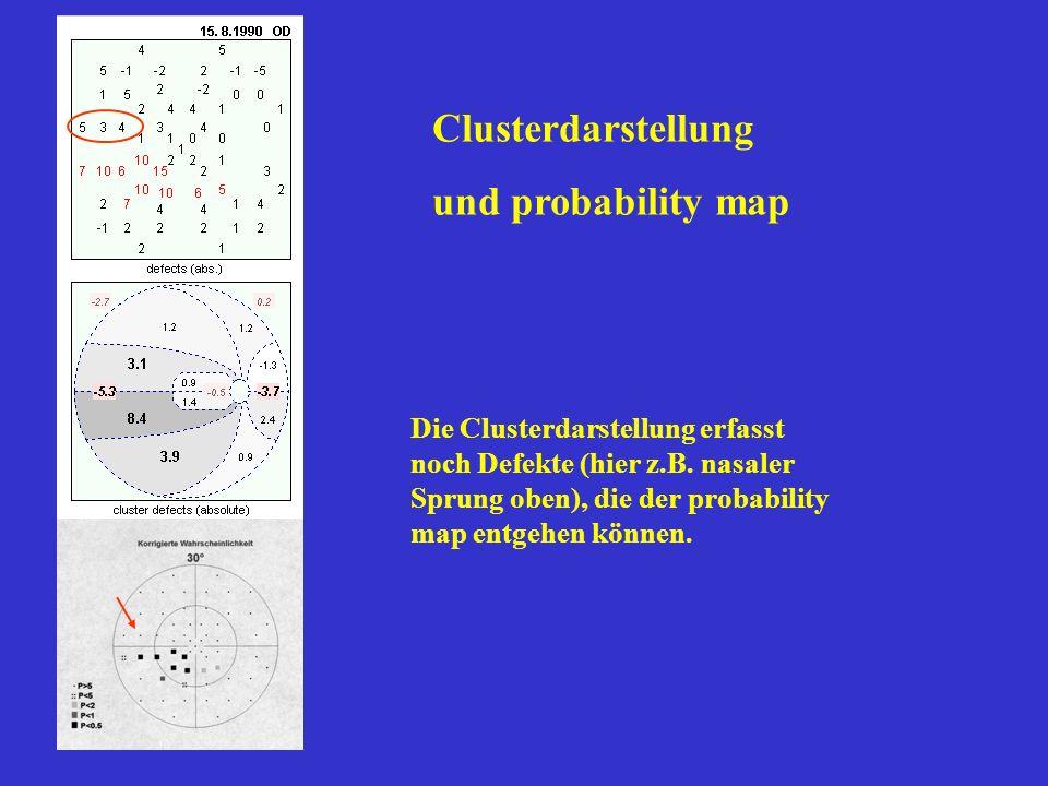 Clusterdarstellung und probability map