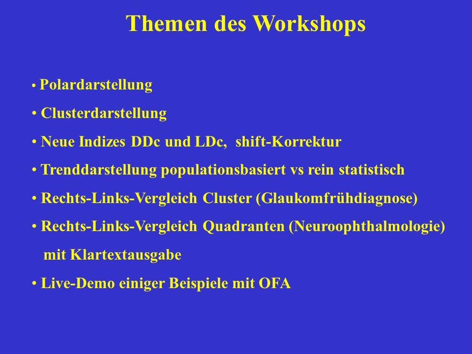Themen des Workshops Clusterdarstellung