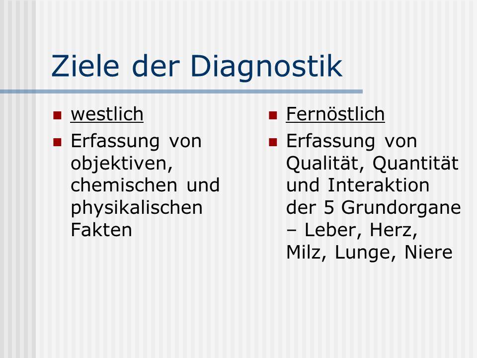 Ziele der Diagnostik westlich
