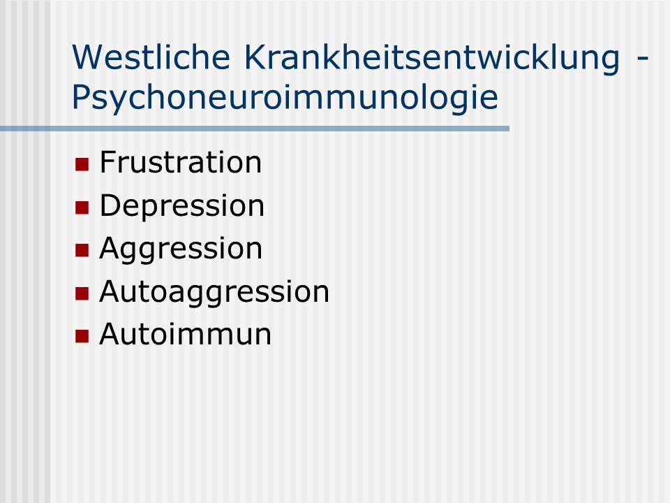 Westliche Krankheitsentwicklung - Psychoneuroimmunologie