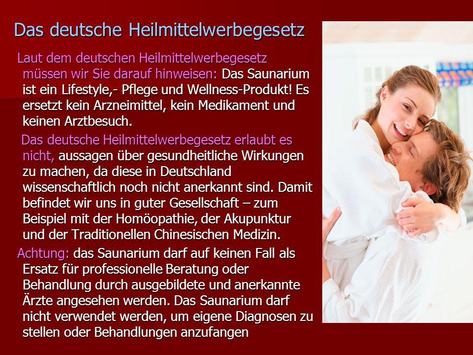 Das deutsche Heilmittelwerbegesetz