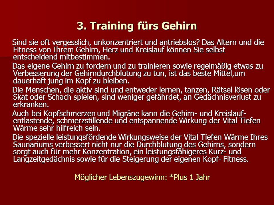 3. Training fürs Gehirn