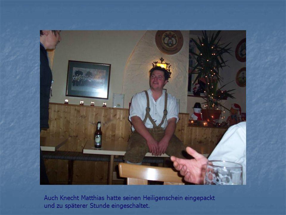 Auch Knecht Matthias hatte seinen Heiligenschein eingepackt