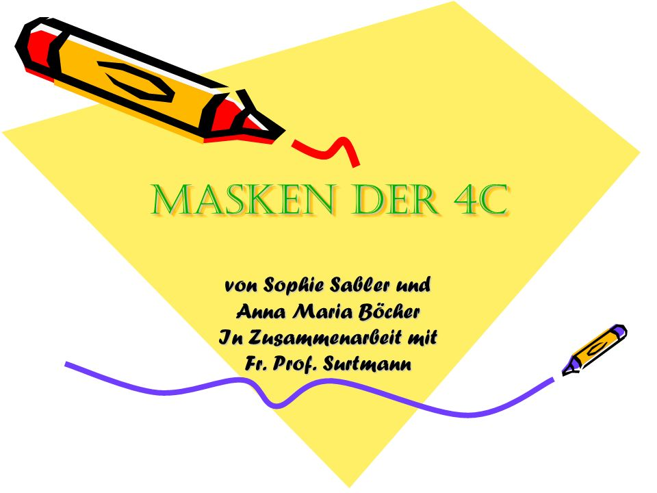 Masken der 4C von Sophie Sabler und Anna Maria Böcher