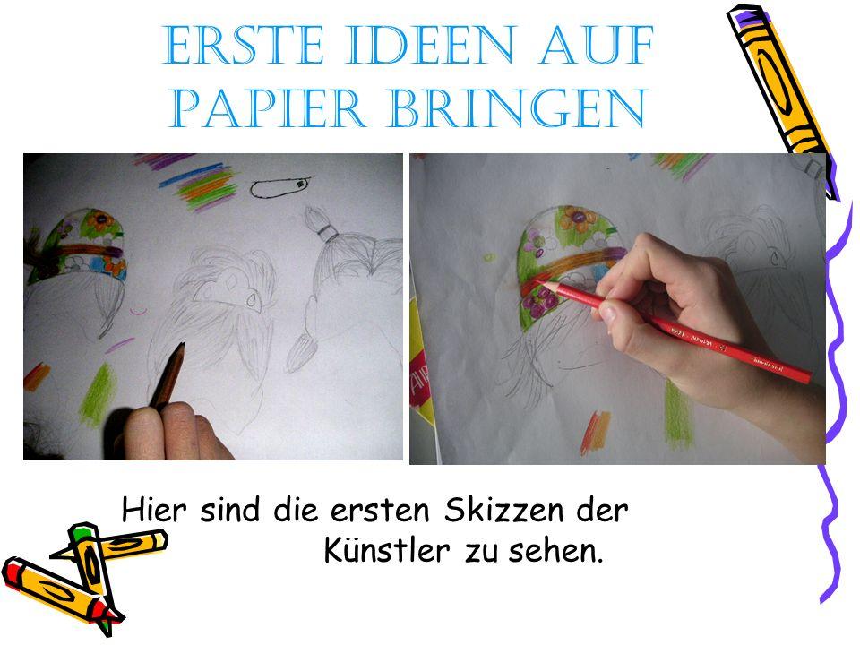Erste Ideen auf Papier bringen