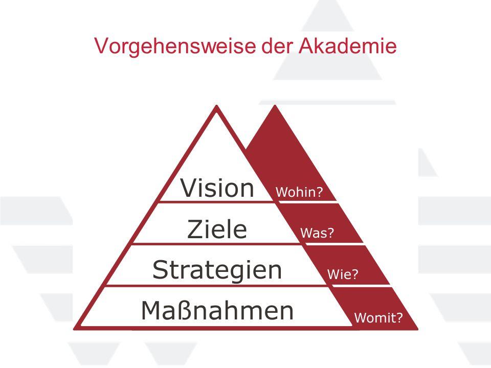 Vorgehensweise der Akademie