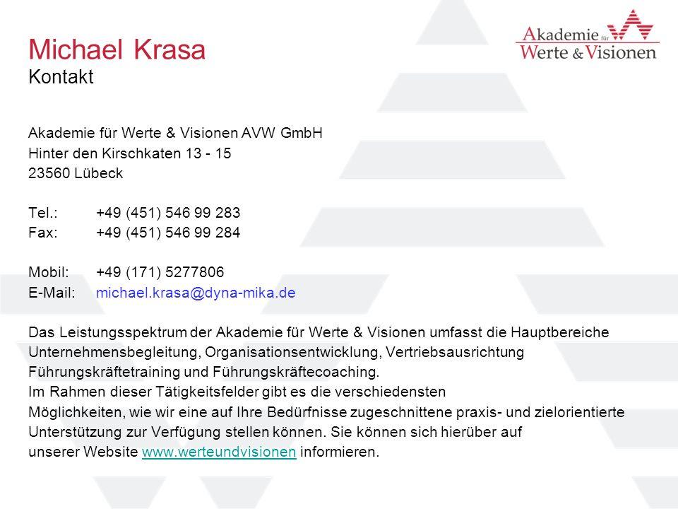 Michael Krasa Kontakt Akademie für Werte & Visionen AVW GmbH