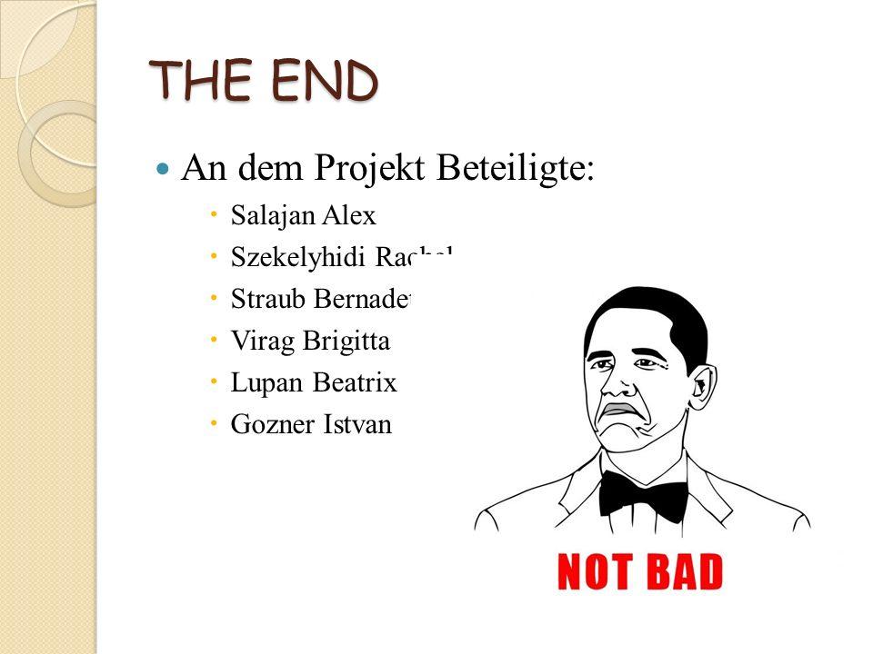 THE END An dem Projekt Beteiligte: Salajan Alex Szekelyhidi Rachel