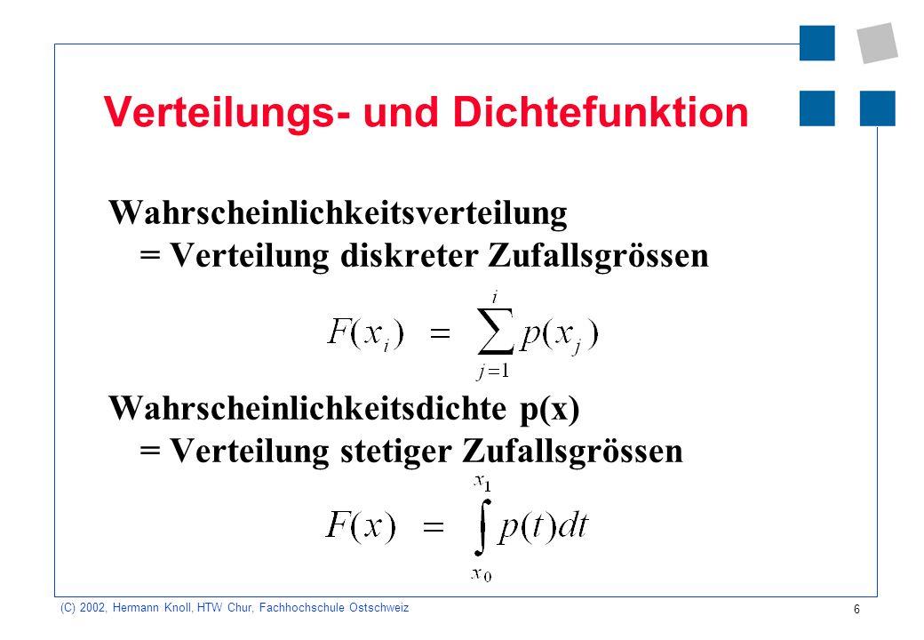 Verteilungs- und Dichtefunktion
