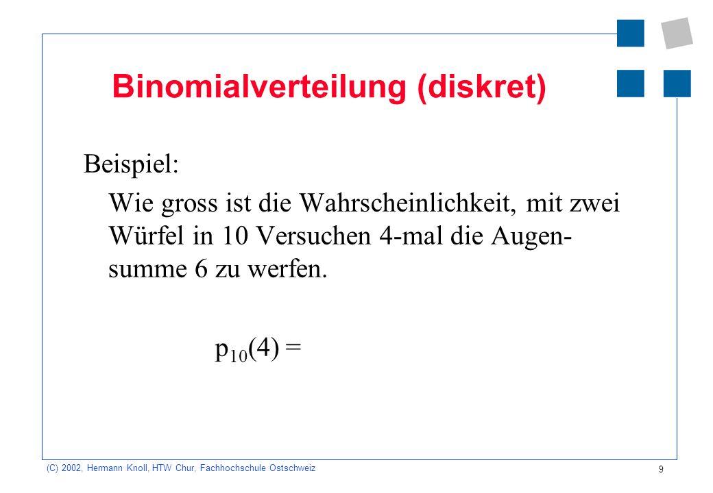 Binomialverteilung (diskret)