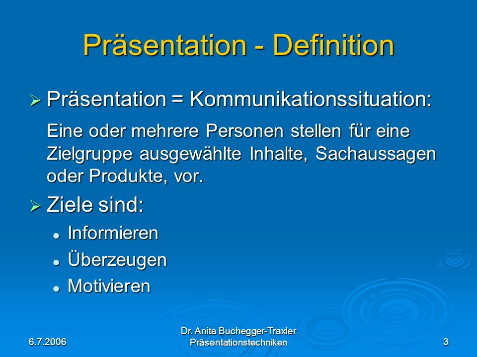 Präsentation - Definition