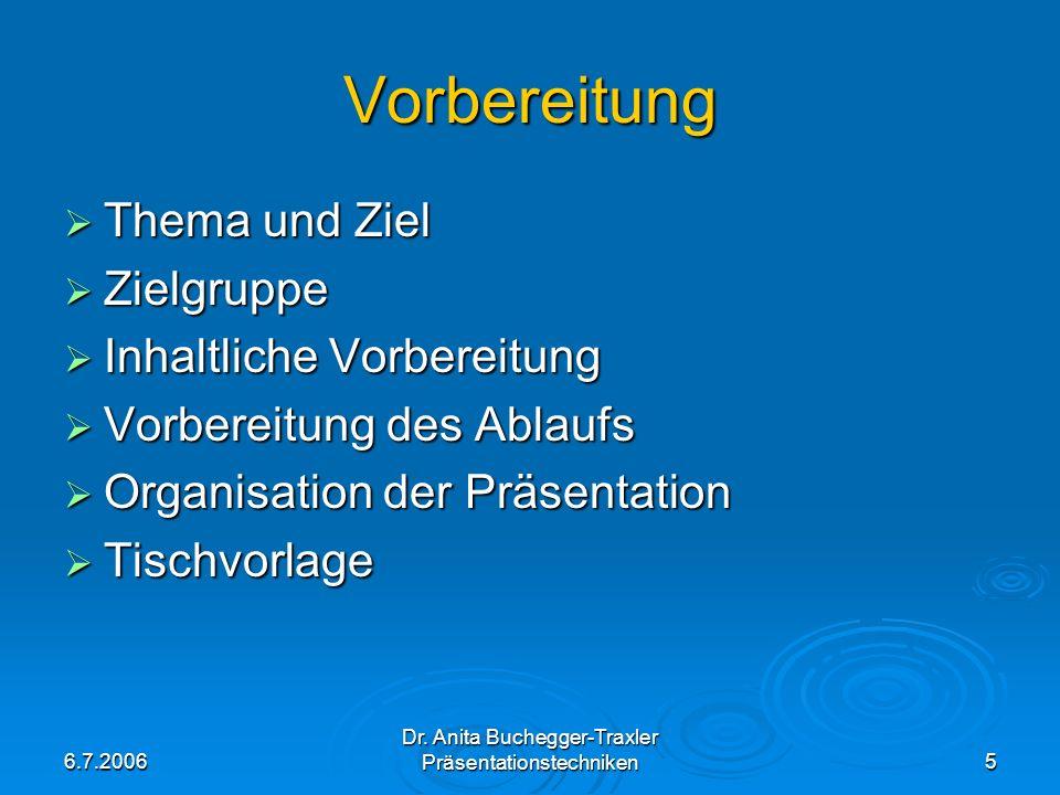 Vorbereitung Thema und Ziel Zielgruppe Inhaltliche Vorbereitung