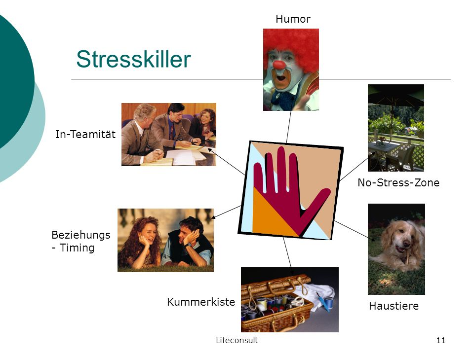 Stresskiller Humor In-Teamität No-Stress-Zone Beziehungs- Timing