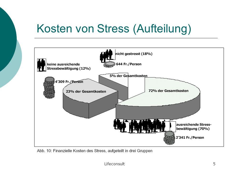 Kosten von Stress (Aufteilung)