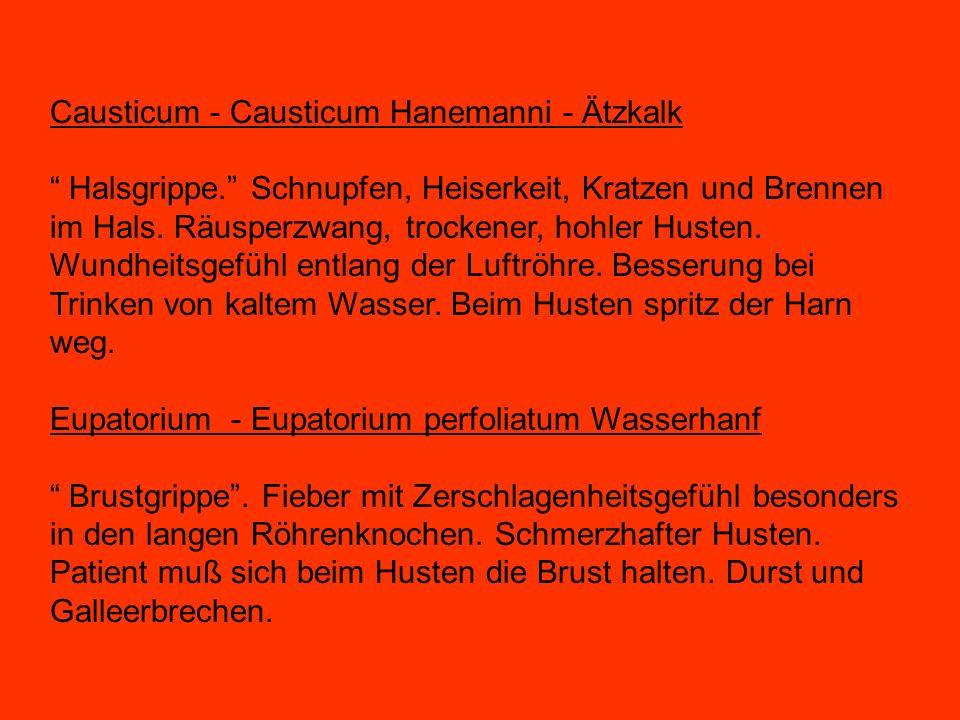Causticum - Causticum Hanemanni - Ätzkalk