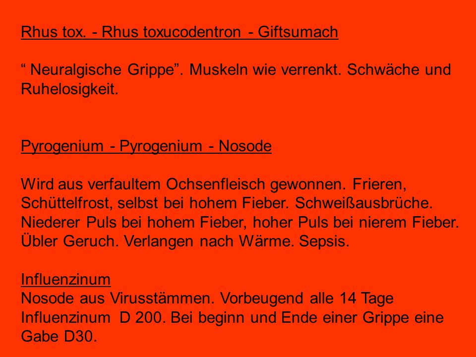 Rhus tox. - Rhus toxucodentron - Giftsumach