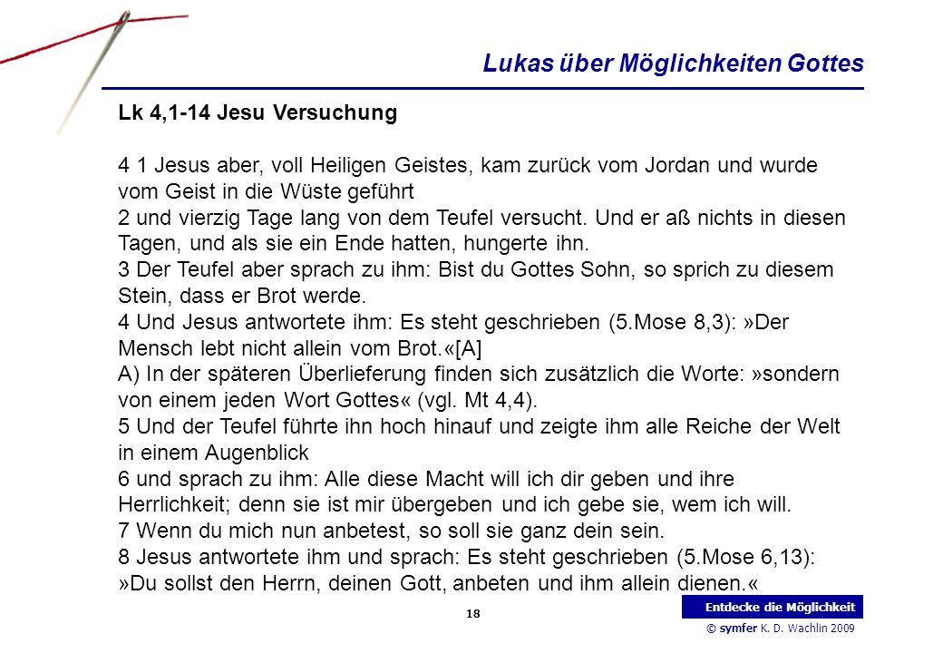 Lukas über Möglichkeiten Gottes