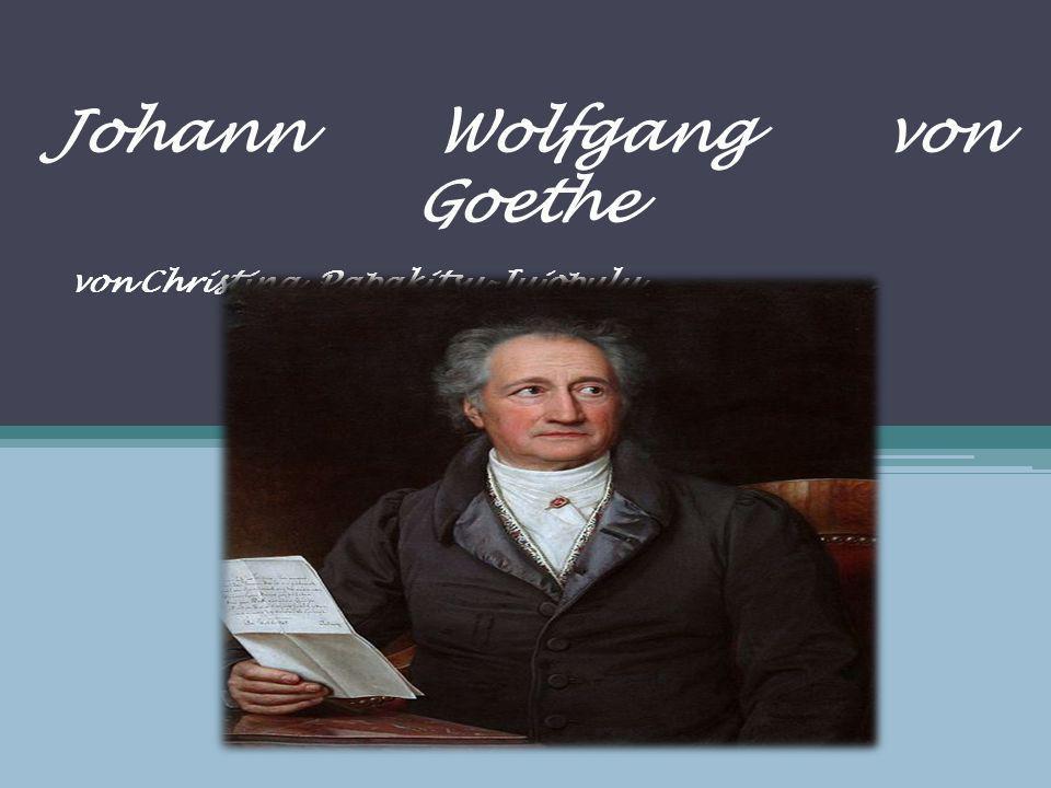 Johann Wolfgang von Goethe von Christina Papakitsu-Jujopulu