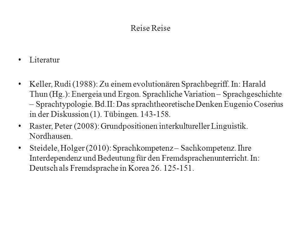 Reise Reise Literatur.