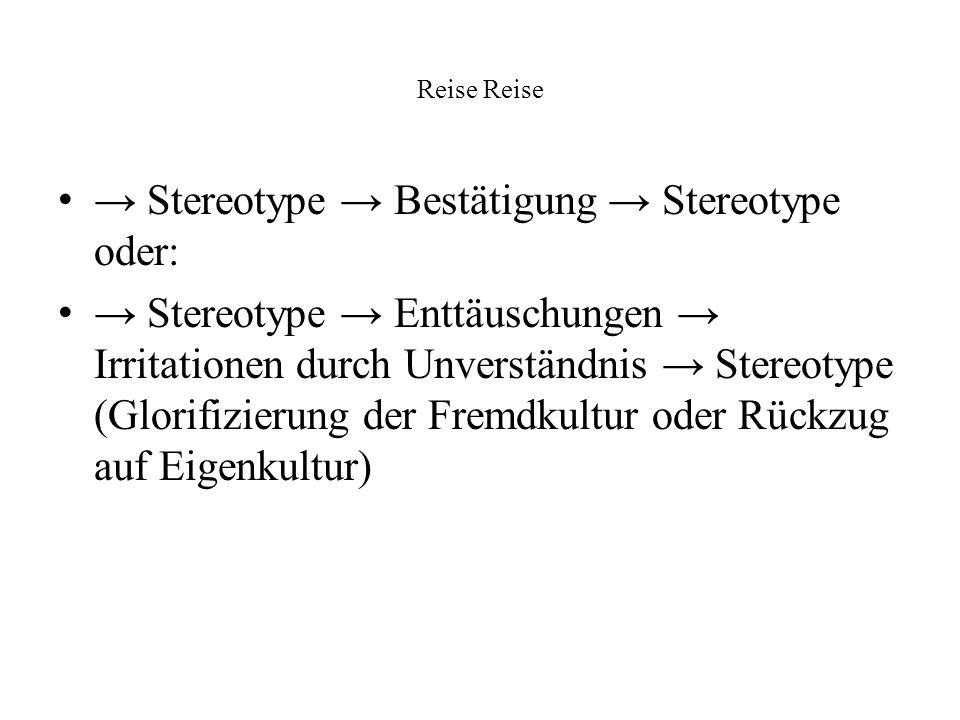 → Stereotype → Bestätigung → Stereotype oder: