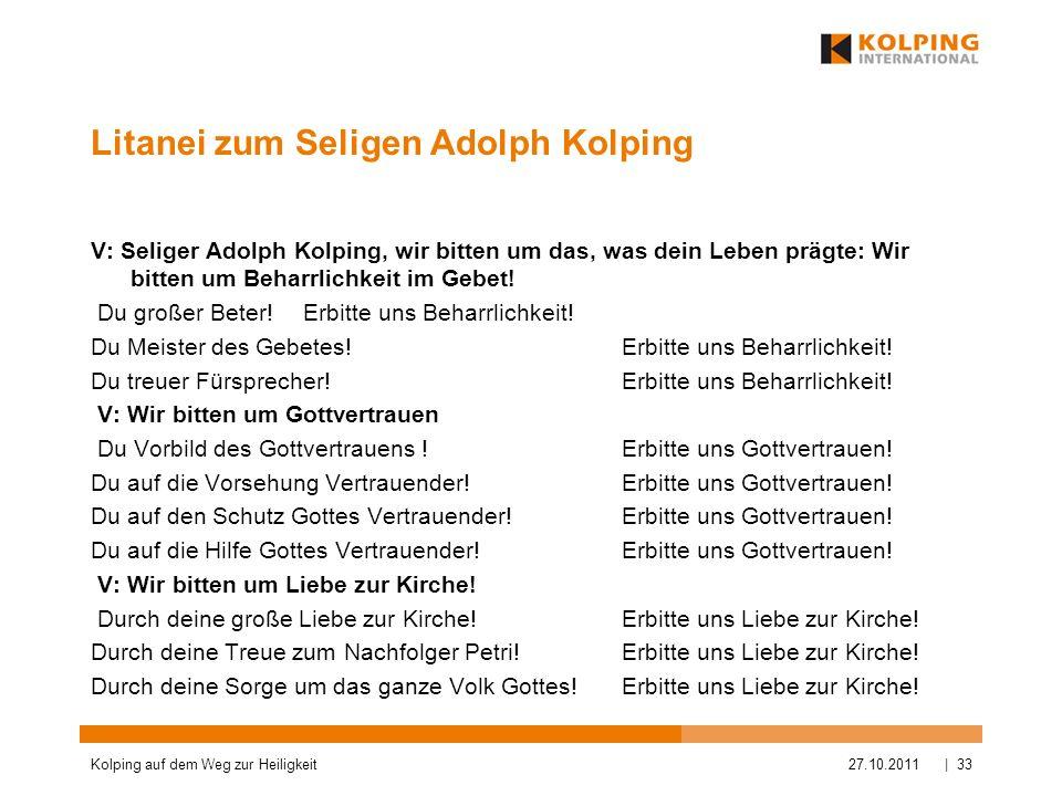 Litanei zum Seligen Adolph Kolping