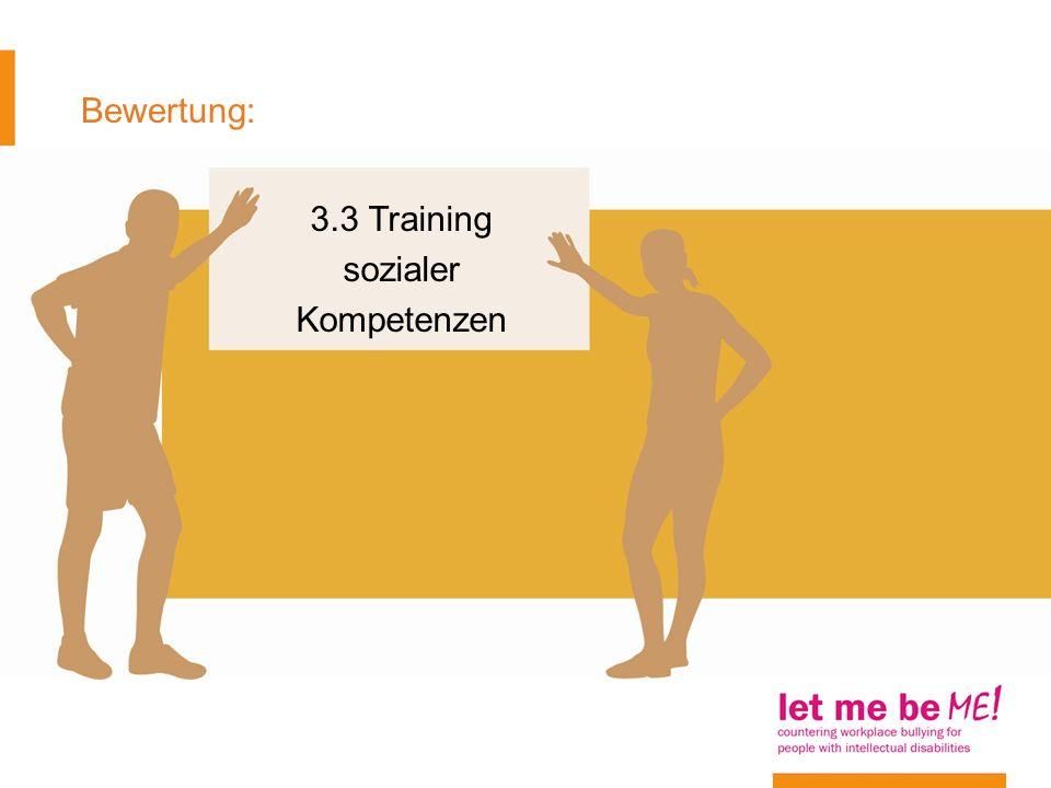 3.3 Training sozialer Kompetenzen