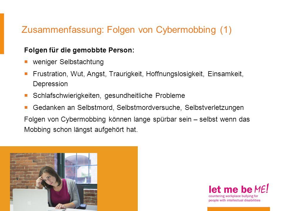 Zusammenfassung: Folgen von Cybermobbing (1)