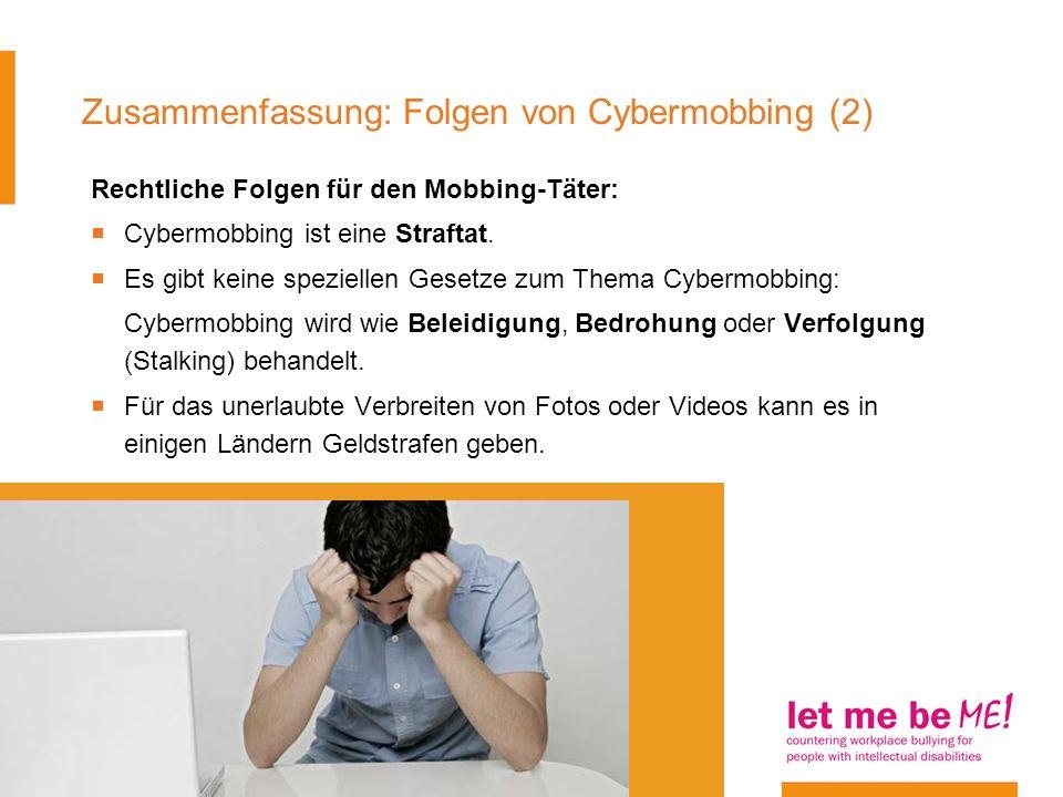 Zusammenfassung: Folgen von Cybermobbing (2)