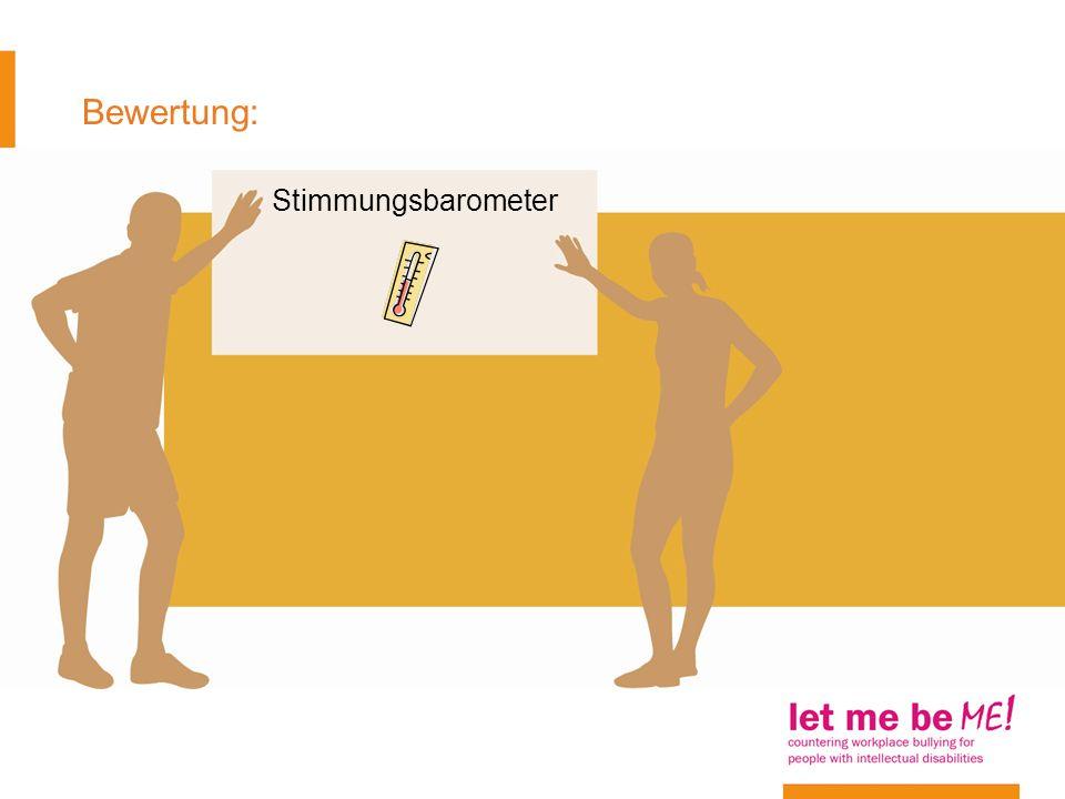Bewertung: Stimmungsbarometer Arbeitsblatt 14
