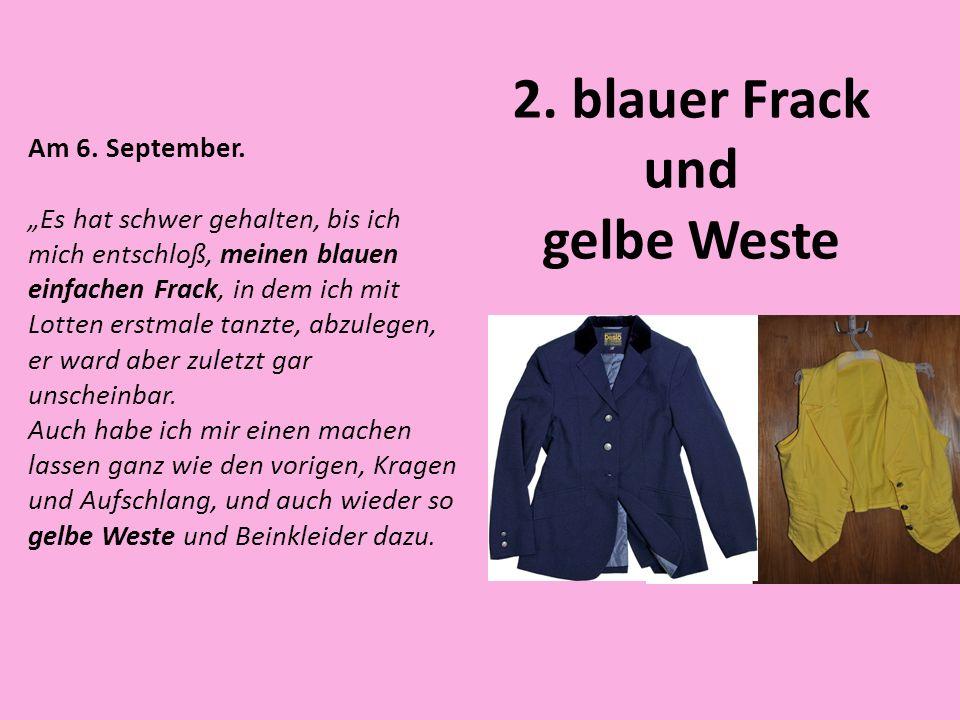 2. blauer Frack und gelbe Weste