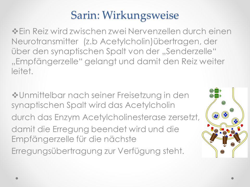 Sarin: Wirkungsweise