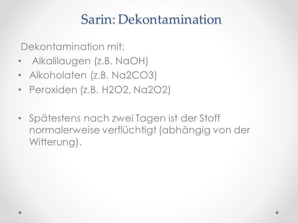 Sarin: Dekontamination