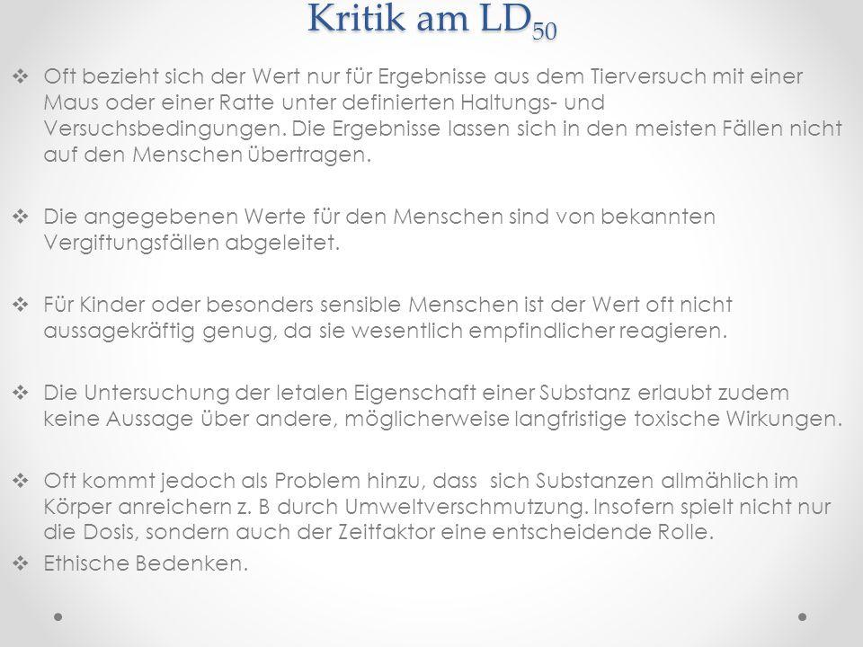 Kritik am LD50