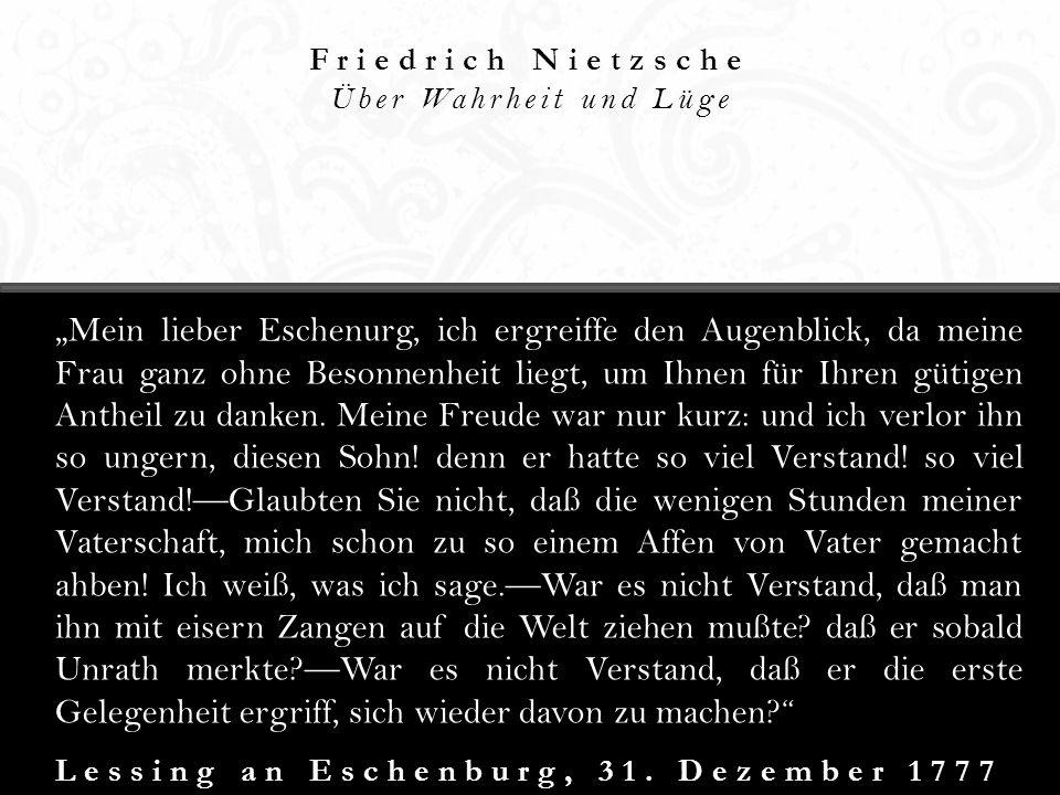 Lessing an Eschenburg, 31. Dezember 1777