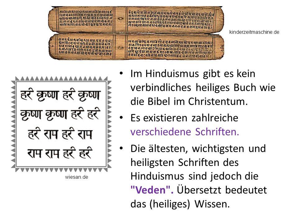 Es existieren zahlreiche verschiedene Schriften.