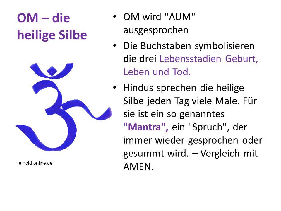 OM – die heilige Silbe OM wird AUM ausgesprochen