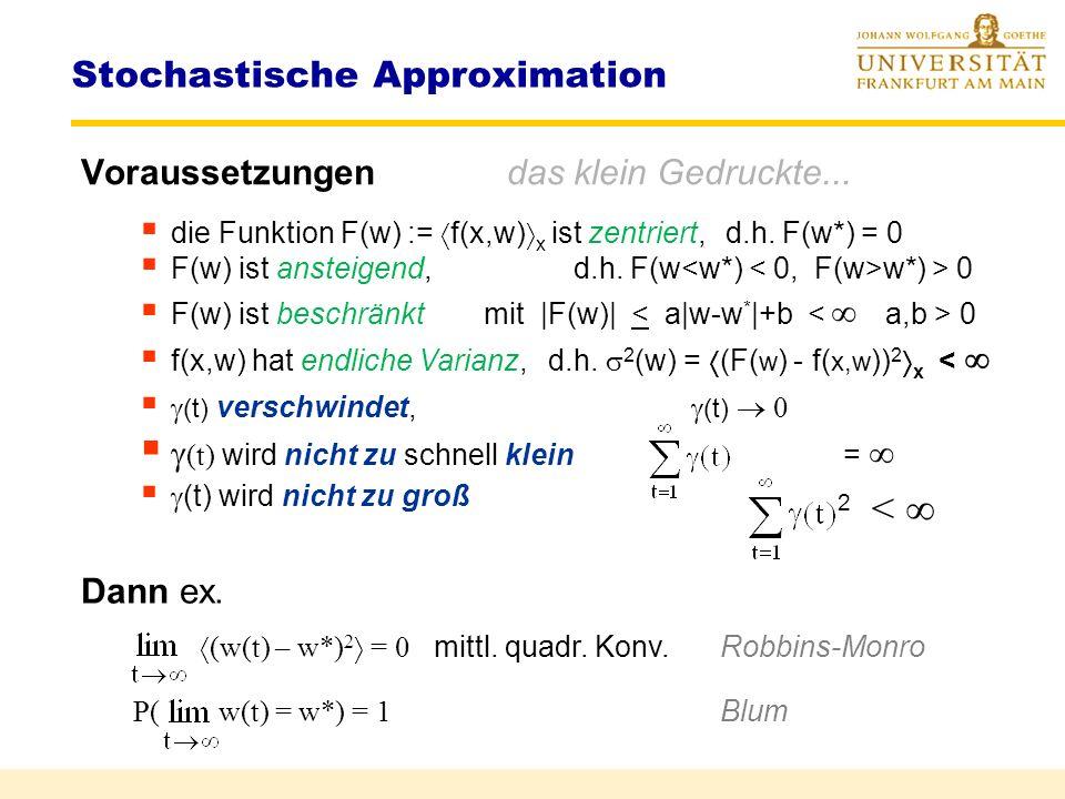 Stochastische Approximation