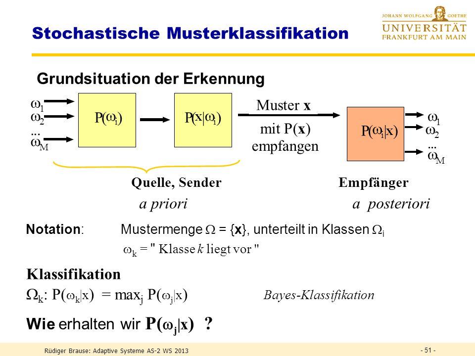 Stochastische Musterklassifikation