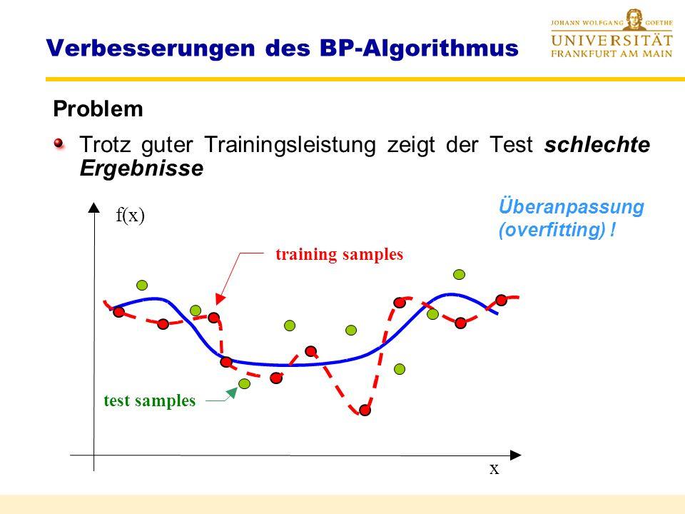 Verbesserungen des BP-Algorithmus