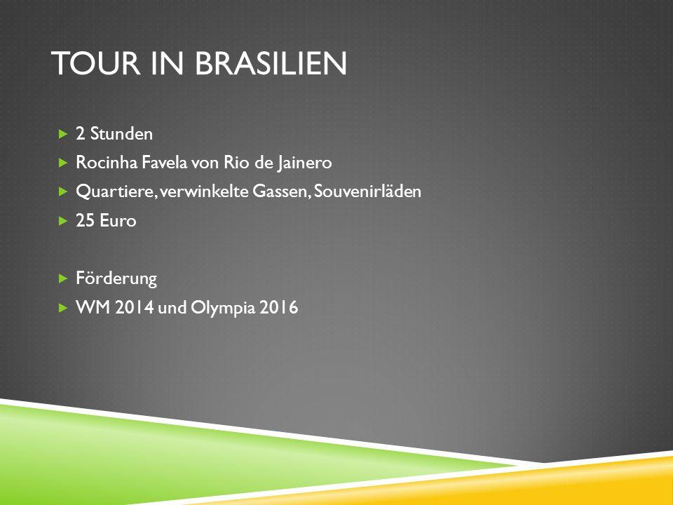 Tour in brasilien 2 Stunden Rocinha Favela von Rio de Jainero