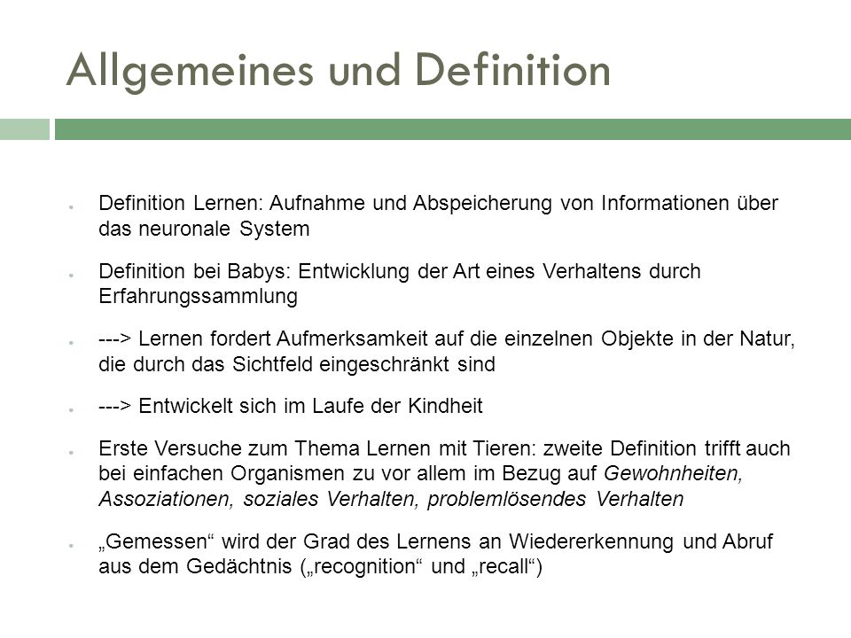 Allgemeines und Definition