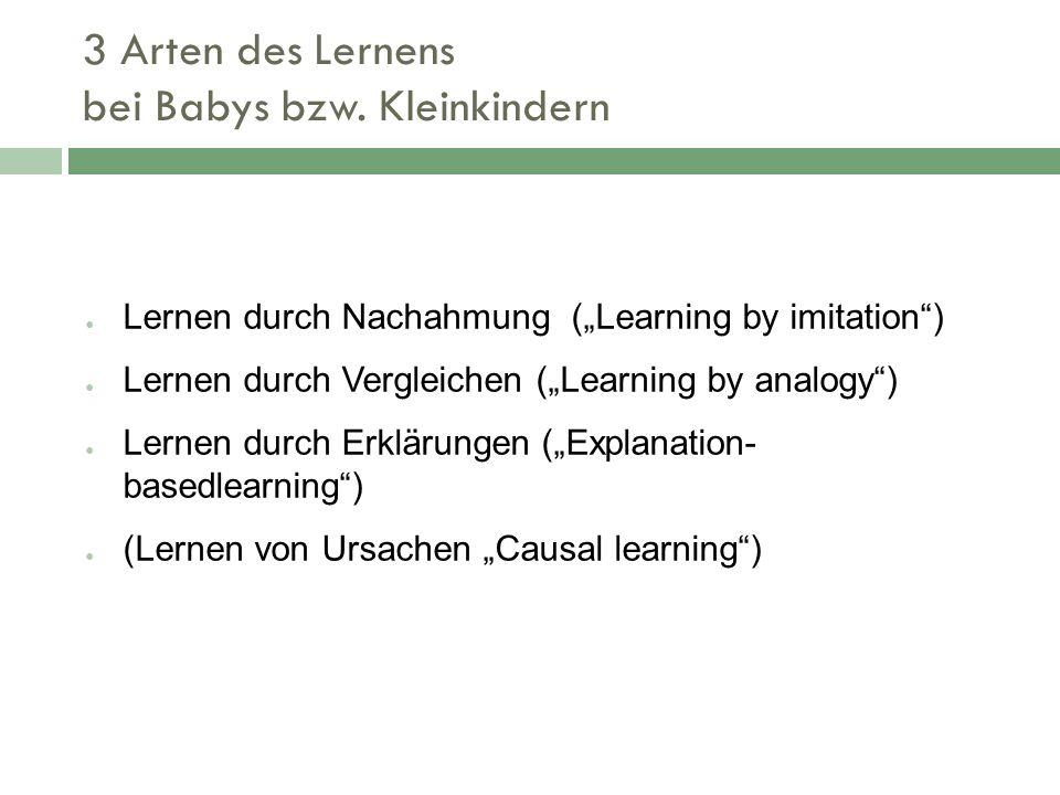 3 Arten des Lernens bei Babys bzw. Kleinkindern