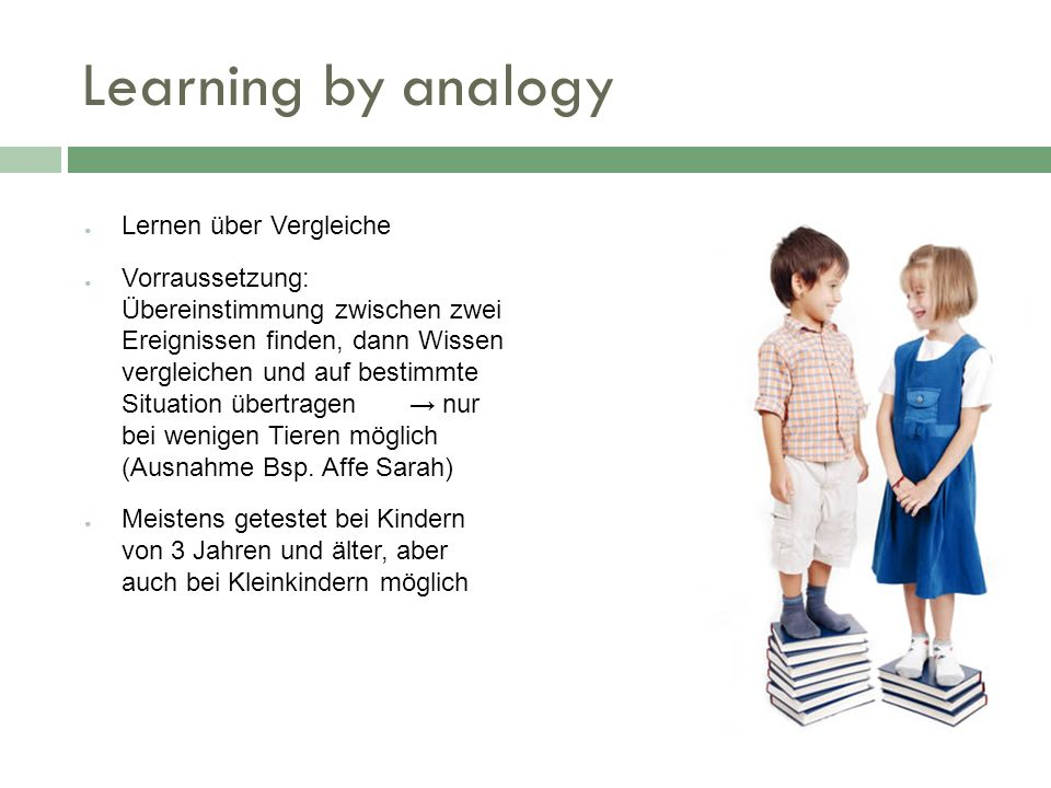 Learning by analogy Lernen über Vergleiche