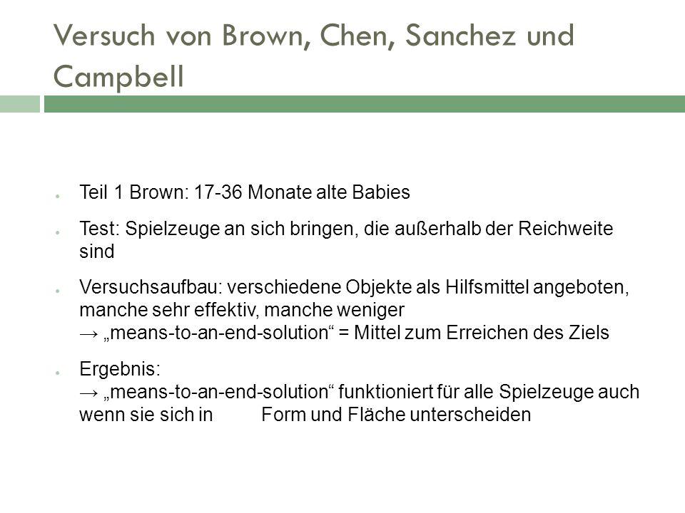 Versuch von Brown, Chen, Sanchez und Campbell