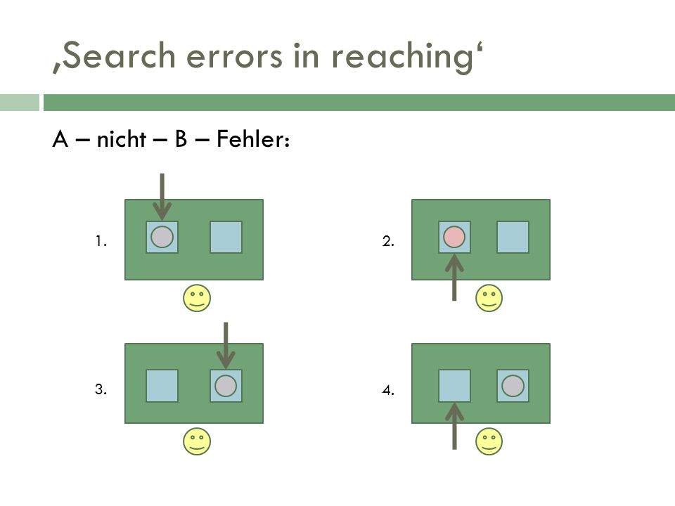 'Search errors in reaching'