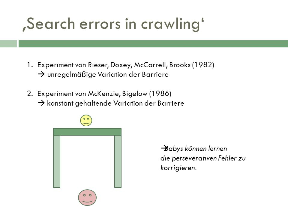 'Search errors in crawling'