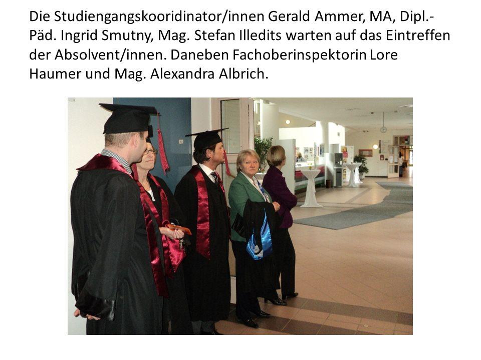 Die Studiengangskooridinator/innen Gerald Ammer, MA, Dipl. -Päd