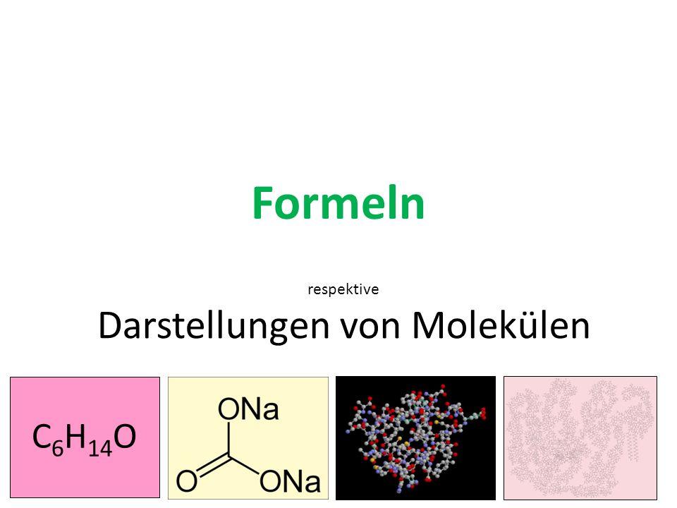 Darstellungen von Molekülen