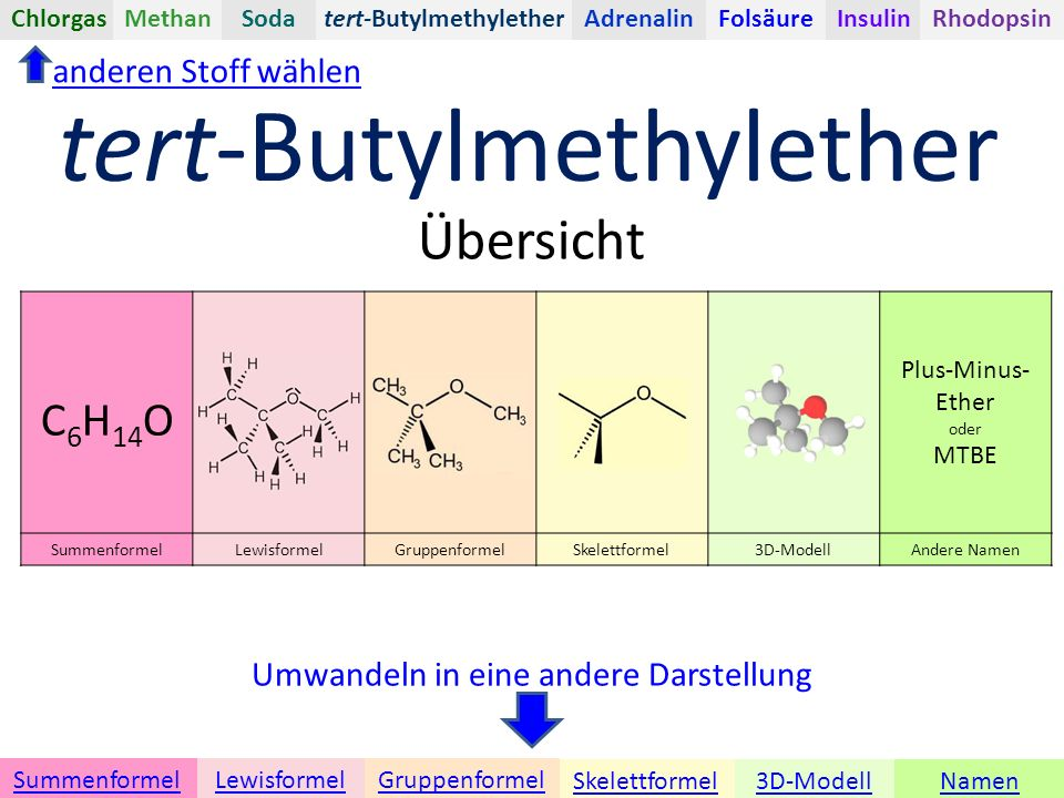 tert-Butylmethylether