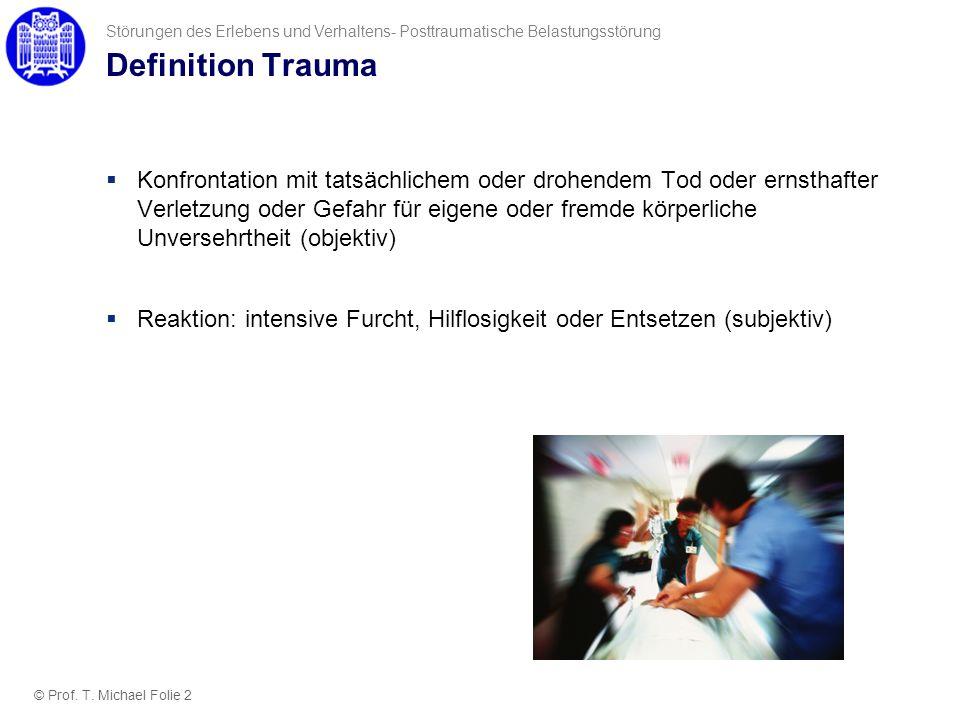 Störungen des Erlebens und Verhaltens- Posttraumatische Belastungsstörung